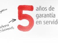 Fujitsu 5 años de garantía